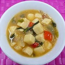 豆腐と青菜の炒め煮の画像