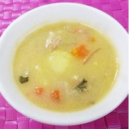 豆乳コーンスープ煮の画像